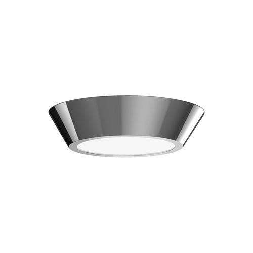 Oculus Polished Nickel 10-Inch LED Flush Mount