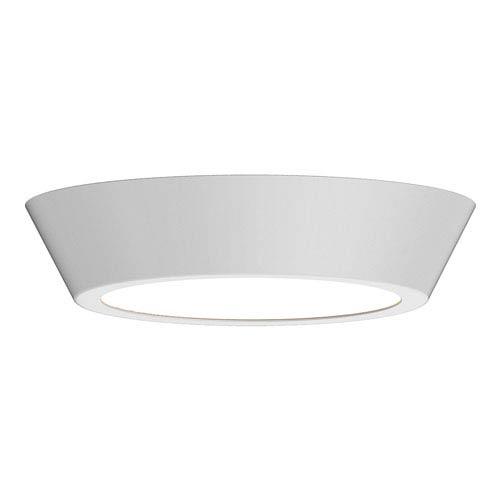 Oculus Satin White 13-Inch LED Flush Mount