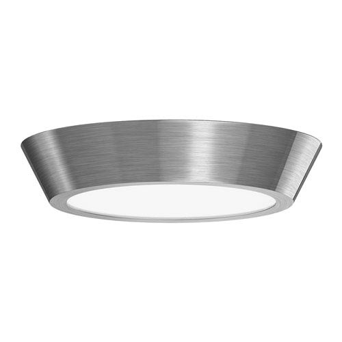 Oculus Satin Nickel 13-Inch LED Flush Mount