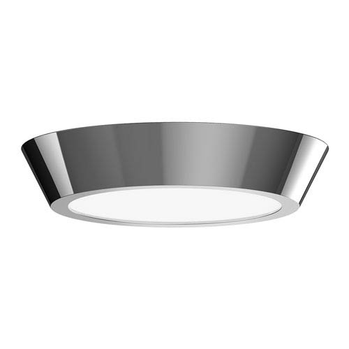 Oculus Polished Nickel 13-Inch LED Flush Mount