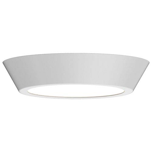 Oculus Satin White 16-Inch LED Flush Mount