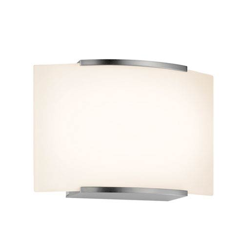 SONNEMAN Wave Satin Nickel LED 8-Inch One Light Wall Sconce
