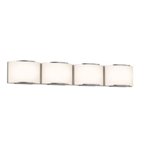 SONNEMAN Wave Satin Nickel LED 33.5-Inch Four Light Bath Fixture