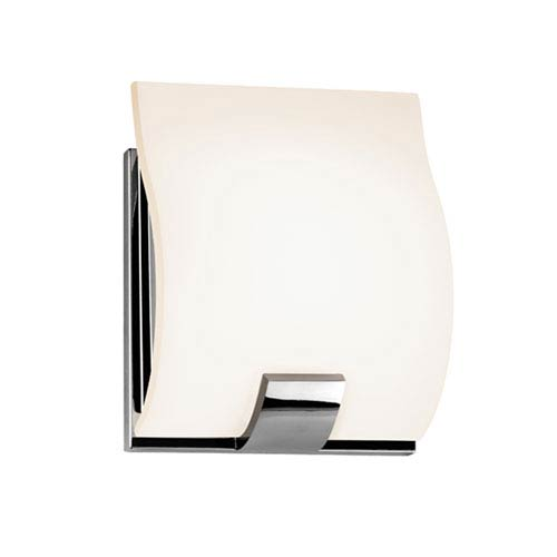SONNEMAN Aquo Polished Chrome LED One Light Wall Sconce with White Etched Glass