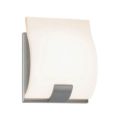 SONNEMAN Aquo Satin Nickel LED 5-Inch One Light Wall Sconce