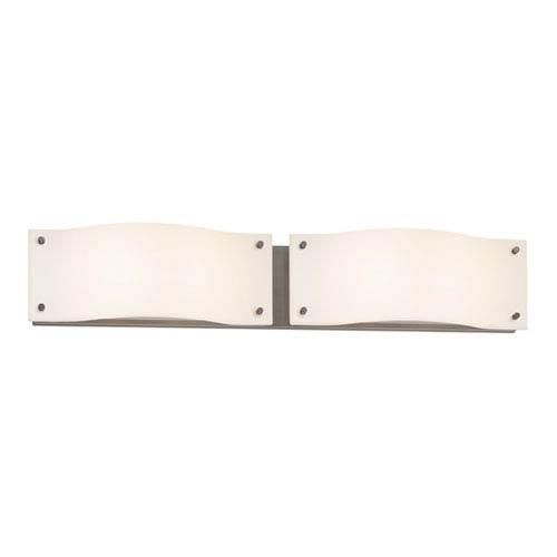 Oceana Satin Nickel LED 29-Inch Two Light Bath Fixture