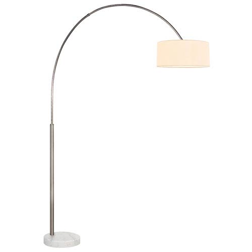 Arc Shade Satin Nickel 66.5-Inch One Light Floor Lamp