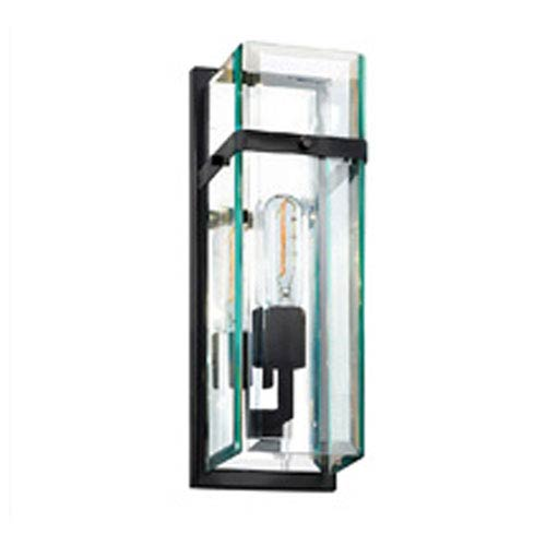 SONNEMAN Mercer Street One-Light - Satin Black with Clear Beveled Glass - Wall Sconce