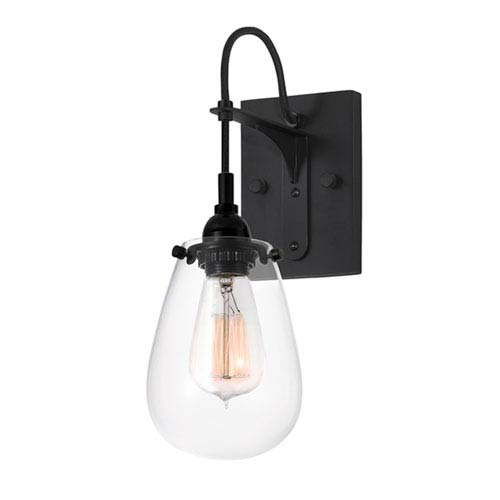 Chelsea One-Light - Satin Black with Clear Glass - Wall Sconce