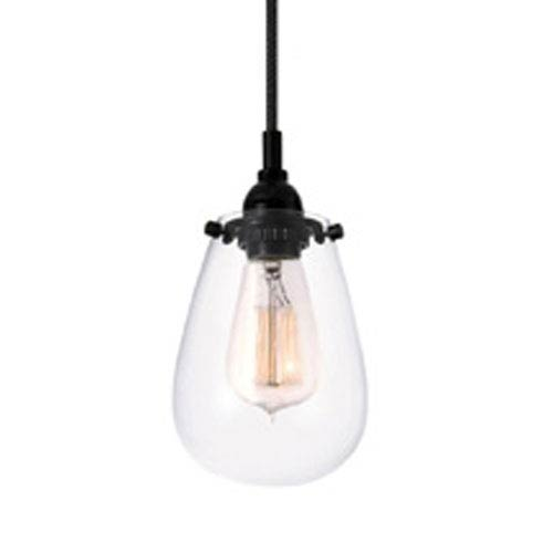 SONNEMAN Chelsea One-Light - Satin Black with Clear Glass - Pendant