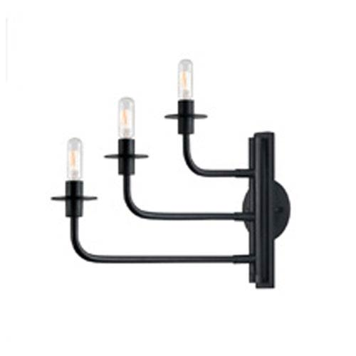 Atelier Three-Light - Satin Black - Wall Sconce