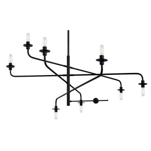 Atelier Eight-Light - Satin Black - Pendant