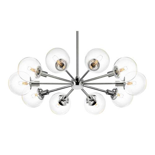 SONNEMAN Orb 10 Light - Polished Chrome with Clear Glass - Pendant