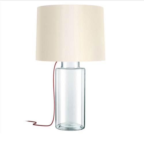 Vaso Clear 1-Light Table Lamp