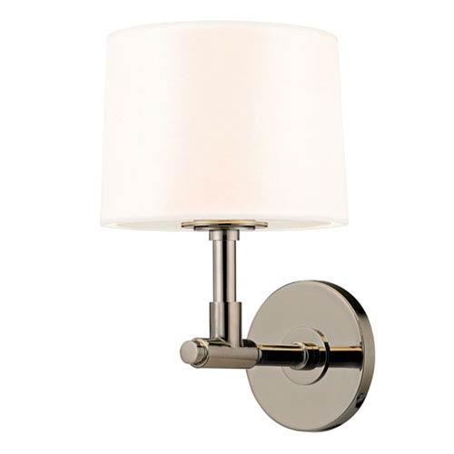 Soho Polished Nickel One Light 8-Inch Wall Sconce