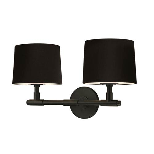 SONNEMAN Soho Satin Black 20.5-Inch Two Light Wall Sconce