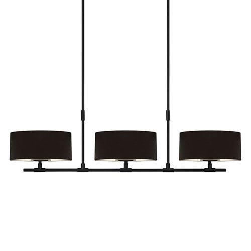 Soho Satin Black 53.75-Inch Six Light Linear Pendant
