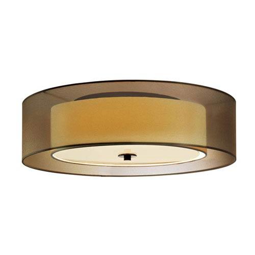 Puri Black Brass 16-Inch Two Light Surface Flush Mount