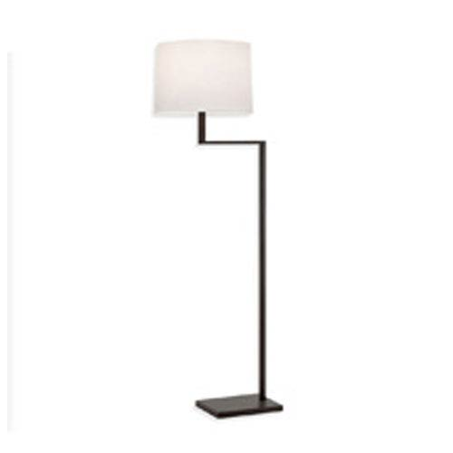 SONNEMAN Thick Thin One-Light - Coffee Bronze with White Cotton Shade - Floor Lamp
