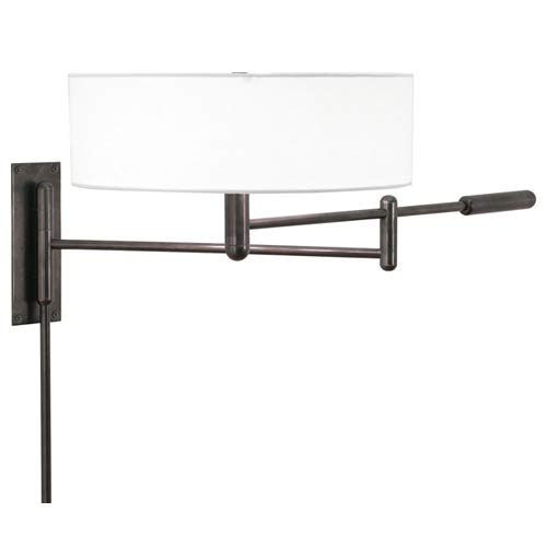 Perno Black Brass Adjustable Pin-Up Wall Lamp