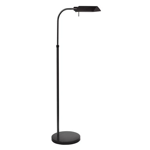 Tenda Pharmacy Satin Black Adjustable Floor Lamp