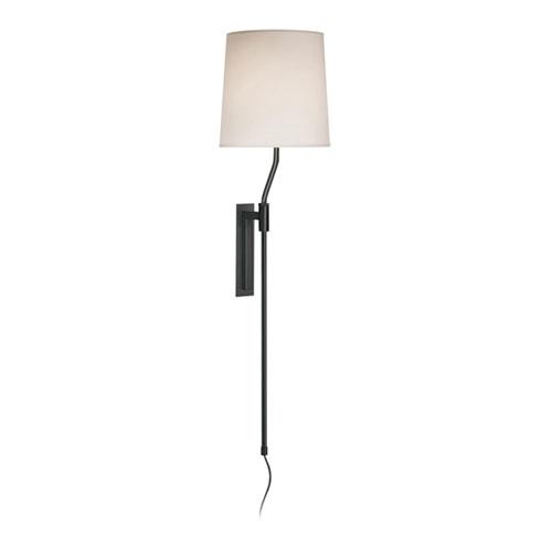 Palo Black Brass Adjustable Plug-In Wall Lamp