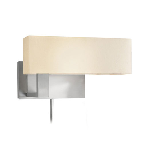 Mitra Satin Nickel One-Light Wall Plug-In Sconce