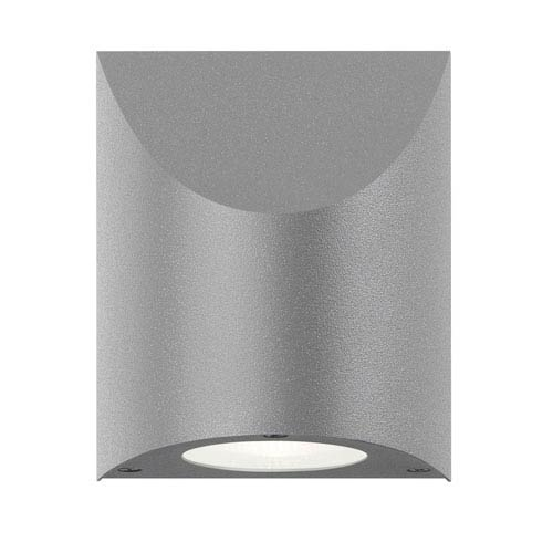 Shear LED Textured Gray 1-Light Outdoor Wall Sconce 6-Inch