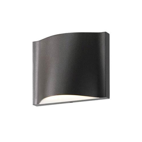 Drift LED Textured Bronze 1-Light Outdoor Wall Sconce
