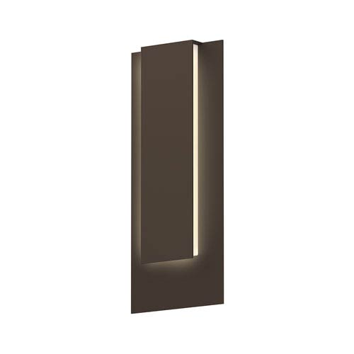 SONNEMAN Inside-Out Reveal Textured Bronze Tall LED Wall Sconce with White Optical Acrylic Diffuser