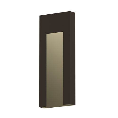 Inside-Out Inset Textured Bronze Tall LED Wall Sconce