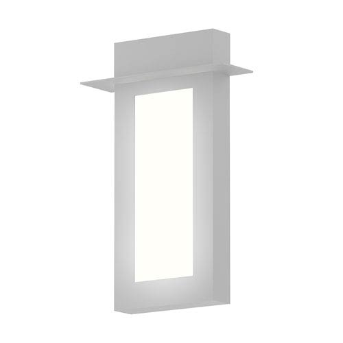 SONNEMAN Inside-Out Prairie Textured White 18-Inch LED Wall Sconce with White Optical Acrylic Diffuser