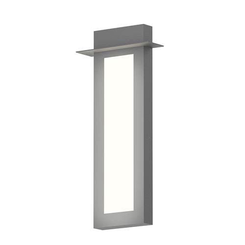 Inside-Out Prairie Textured Gray 26-Inch LED Wall Sconce with White Optical Acrylic Diffuser
