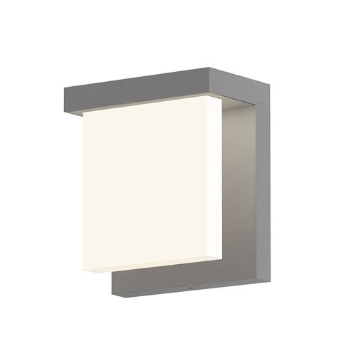 Inside-Out Glass Glow Textured Gray LED Wall Wall Sconce with Clear Etched Glass Shade