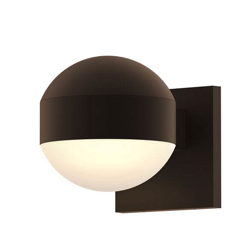 SONNEMAN Inside-Out REALS Textured Bronze Downlight LED Wall Sconce with Dome Lens and Dome Cap and Frosted White Lens