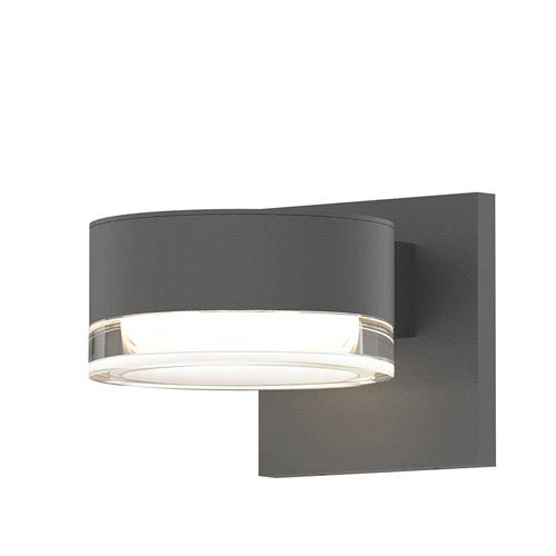 SONNEMAN Inside-Out REALS Textured Gray Downlight LED Wall Sconce with Clear Lens