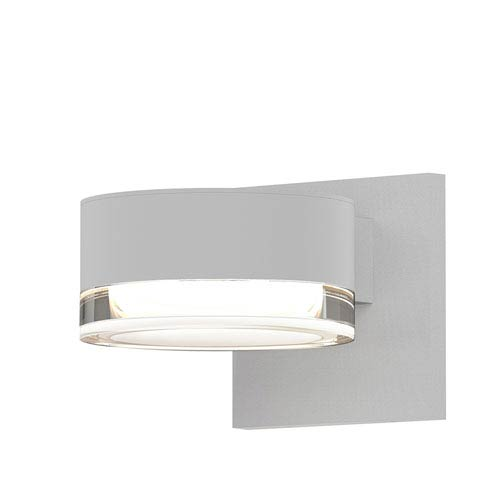 SONNEMAN Inside-Out REALS Textured White Downlight LED Wall Sconce with Clear Lens