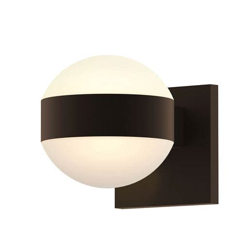 Inside-Out REALS Textured Bronze Up Down LED Wall Sconce with Dome Lens and Dome Cap with Frosted White Lens