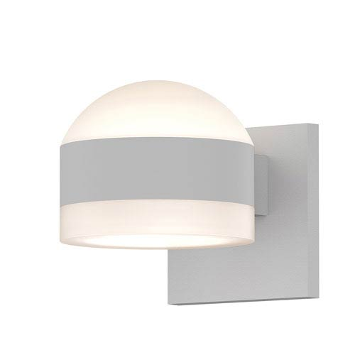 SONNEMAN Inside-Out REALS Textured White Up Down LED Wall Sconce with Cylinder Lens and Dome Cap with Frosted White Lens