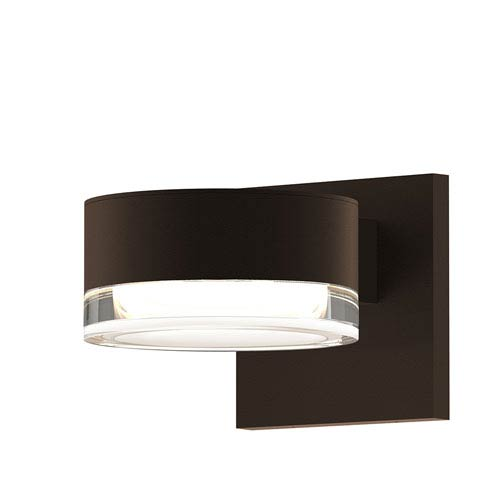 Inside-Out REALS Textured Bronze LED Wall Sconce with Clear Lens