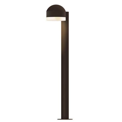 Inside-Out REALS Textured Bronze 28-Inch LED Bollard with Cylinder Lens and Dome Cap with Frosted White Lens