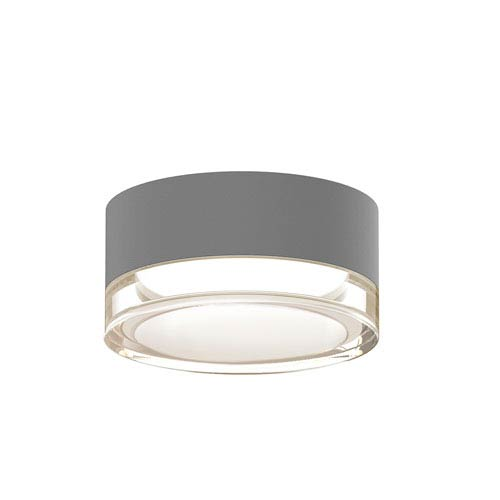 SONNEMAN Inside-Out REALS Textured Gray LED Surface Mount with Clear Lens