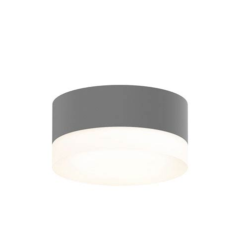 Inside-Out REALS Textured Gray LED Surface Mount with Cylinder Lens with Frosted White Lens