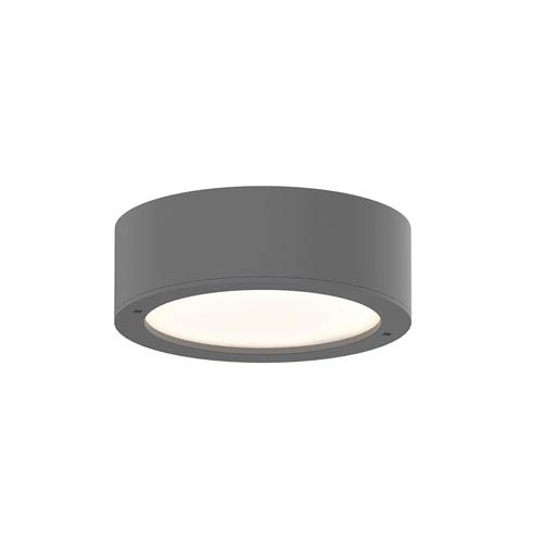 SONNEMAN Inside-Out REALS Textured Gray LED Surface Mount with Frosted White Lens