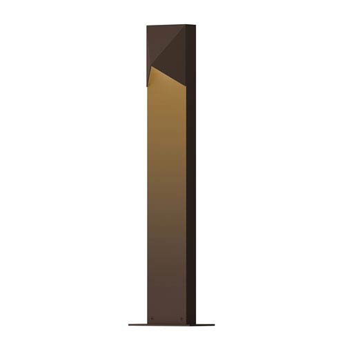 SONNEMAN Inside-Out Triform Compact Textured Bronze 22-Inch LED Bollard