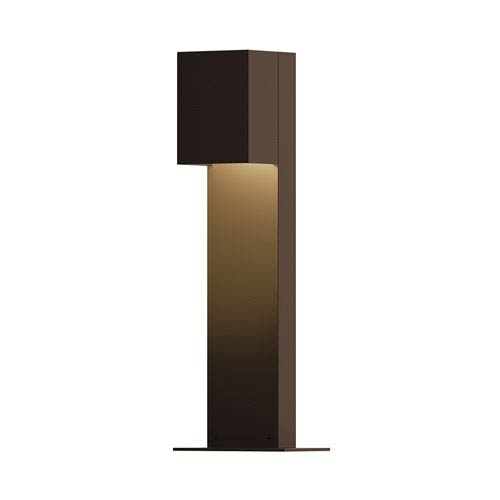 Inside-Out Box Textured Bronze 16-Inch LED Bollard