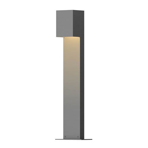 Inside-Out Box Textured Gray 22-Inch LED Bollard