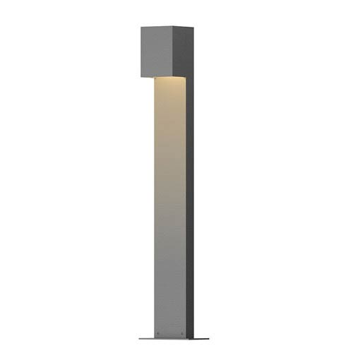 Inside-Out Box Textured Gray 28-Inch LED Bollard