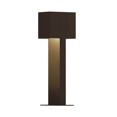 Inside-Out Box Textured Bronze 16-Inch LED Double Bollard