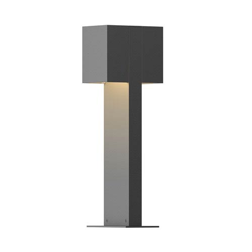 Inside-Out Box Textured Gray 16-Inch LED Double Bollard